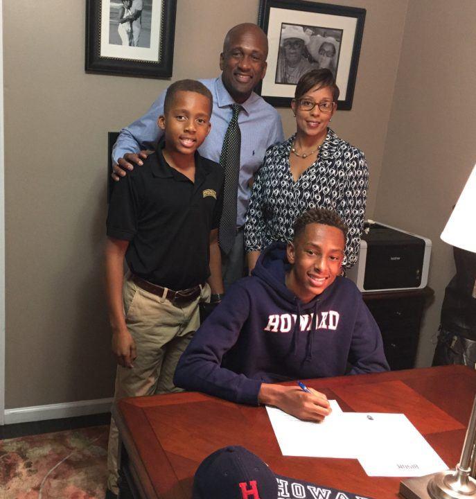 Howard University Bison Sign Florida Breaststroker Speakman Smith