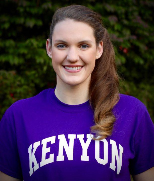 Kenyon Adds to Verbal Haul; Picks Up NJ Backstroker Kate Alexy