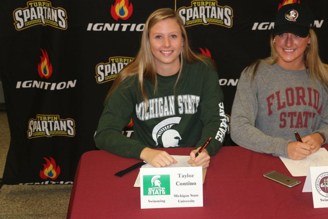 Ohio Freestyler Taylor Contino Commits to Michigan State University