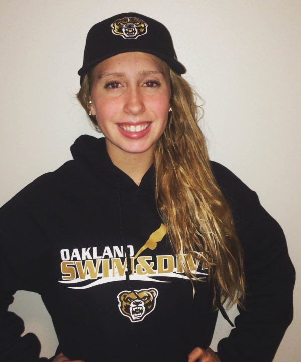 Wisconsin Distance Freestyler Maggie Held Gives Verbal to Oakland