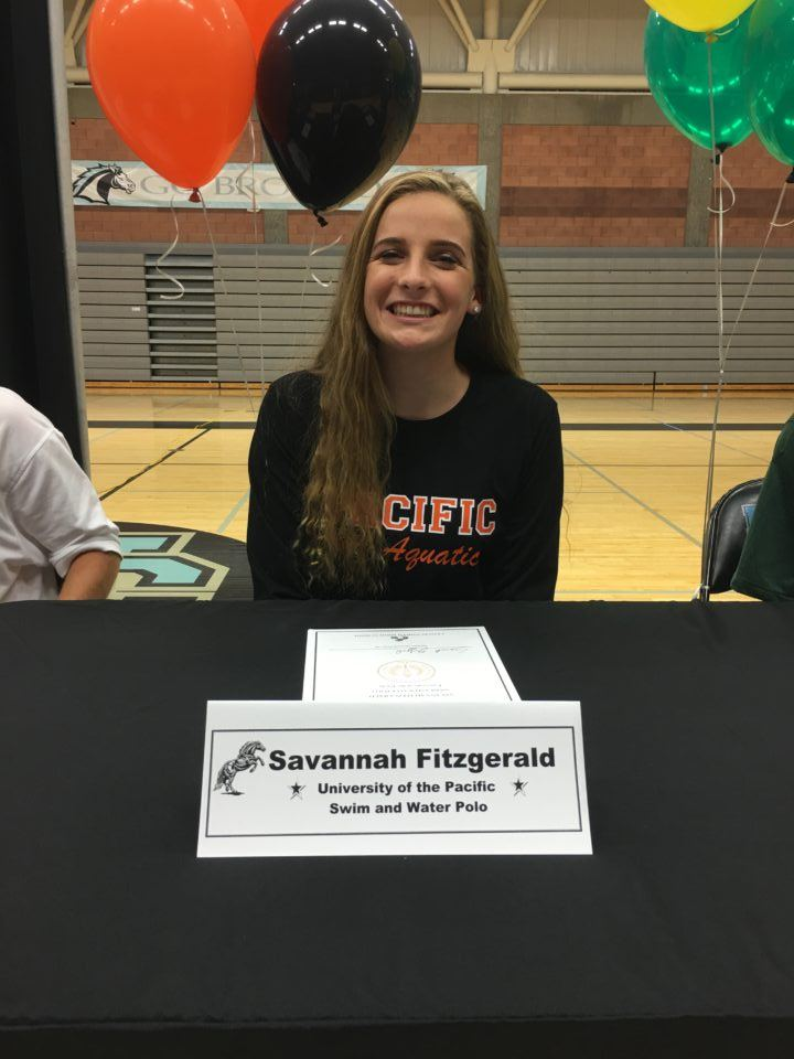 Savannah Fitzgerald to Swim and Play Water Polo at Pacific