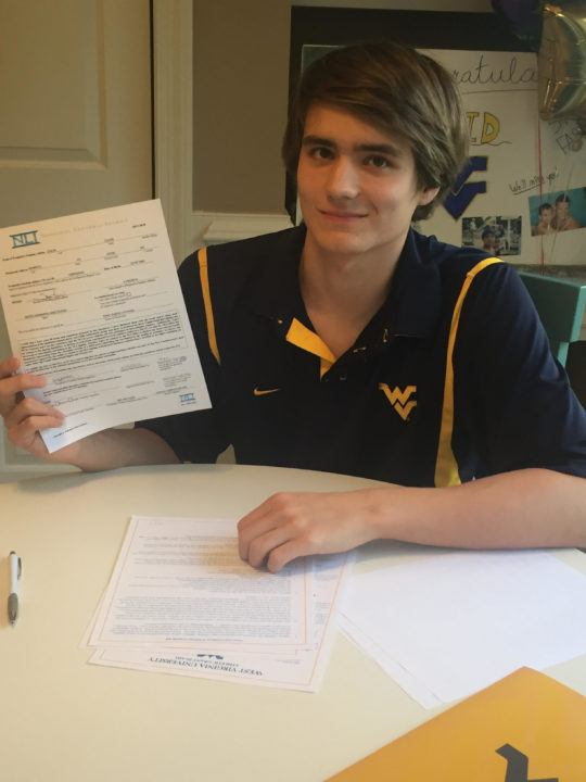 Double Legacy David Dixon Commits to Swim for West Virginia