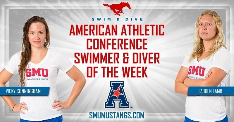 SMU's Cunningham, Lamb Sweep AAC's Weekly Awards
