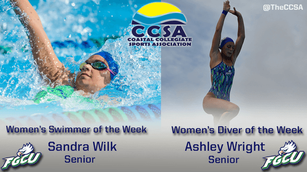 FGCU Women Claim Third Sweep Of Swimmer And Diver Of The Week Awards