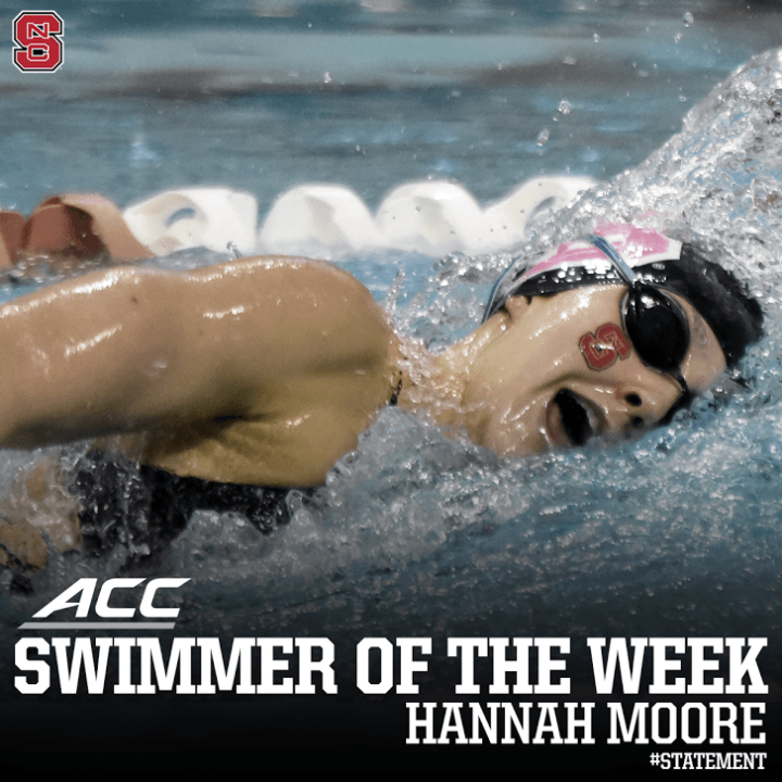 NC State Sweeps ACC Swimmer Of The Week Awards