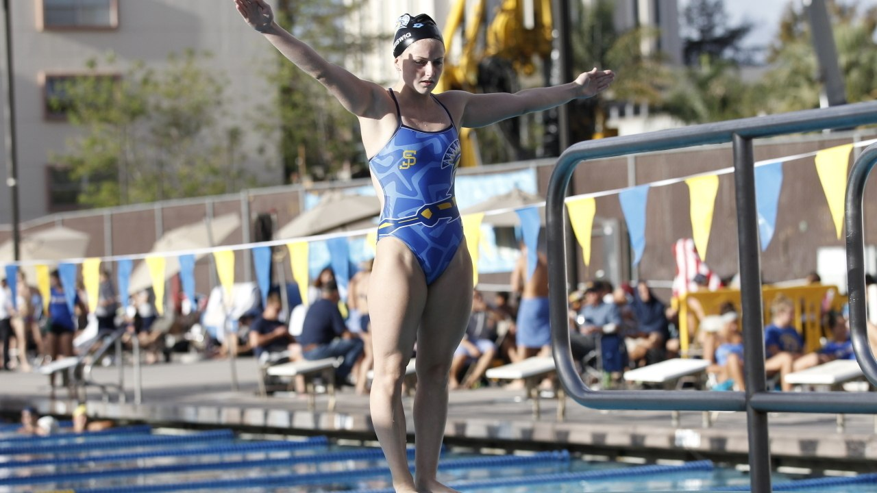 Cari reiswig sets san jose state school record in the 1 - San diego state university swimming pool ...