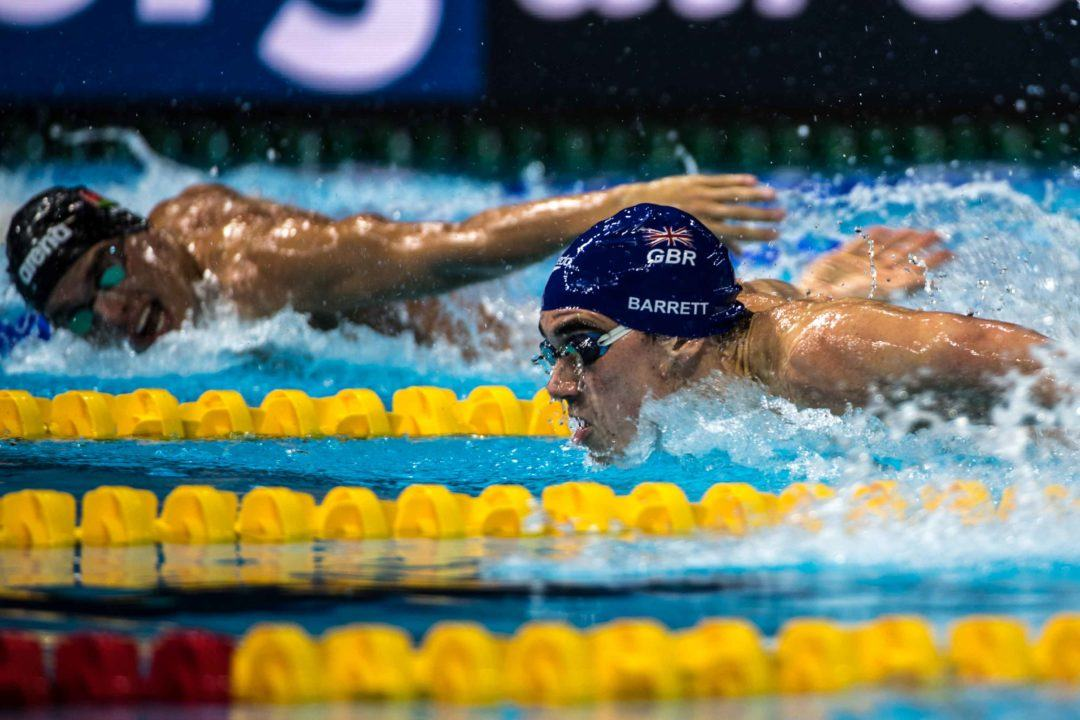 Adam Barrett Takes British Record with 49.21 for #1 in 100 Fly Semis