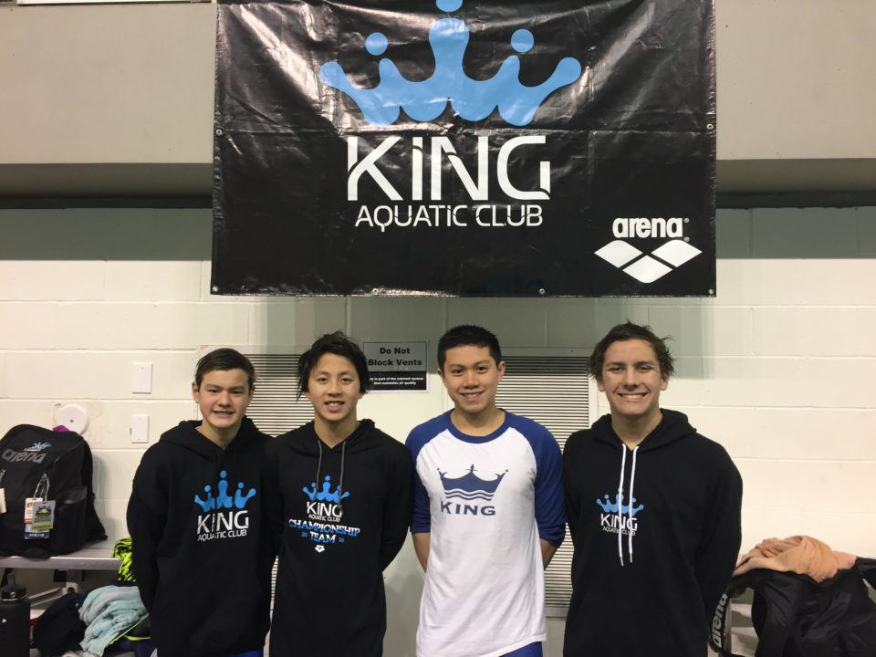 KING Boys Break 13-14 NAG Record in 400 Medley Relay