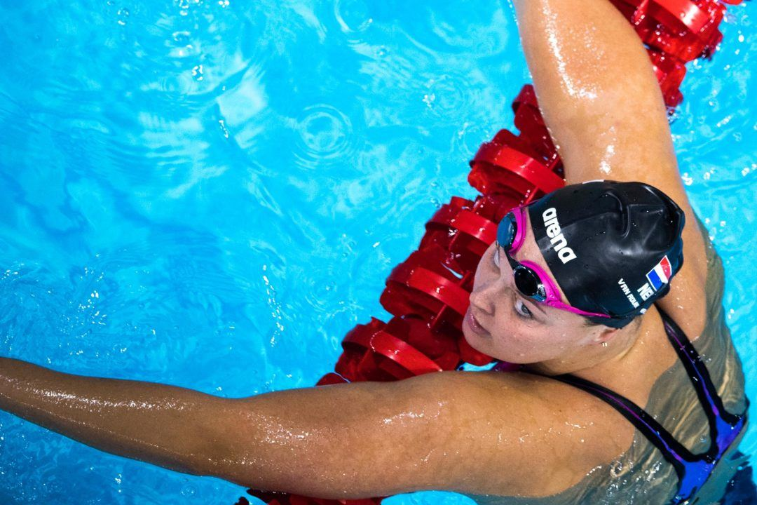 Dutch Olympic Gold Medalist Van Rouwendaal Takes To Inflatable Pool
