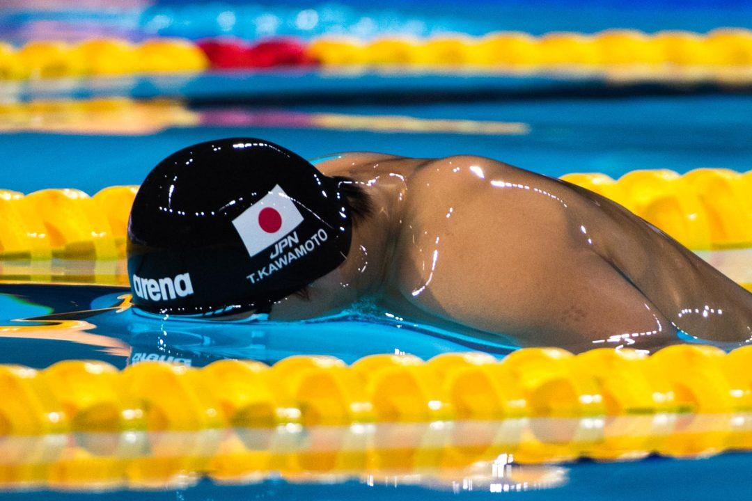 Kawamoto Overtakes Schooling's 50 Fly Asian Record