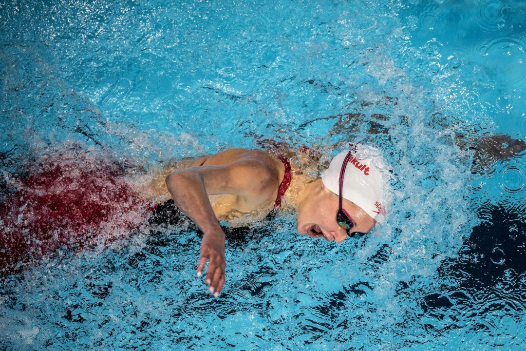 Taylor Ruck Ties Canadian Record in 200 LCM Free at England Nats