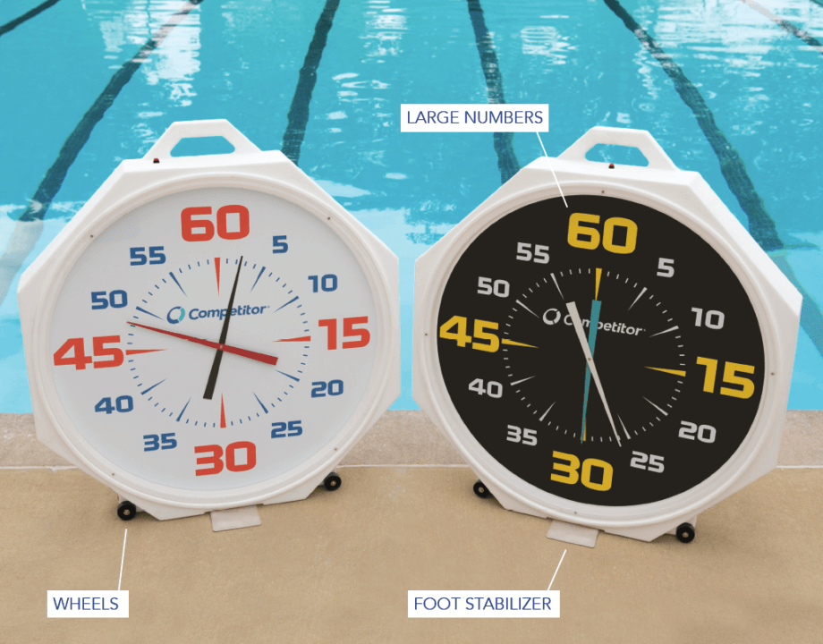 Competitor Swim® Releases New 37-Inch Pace Clock