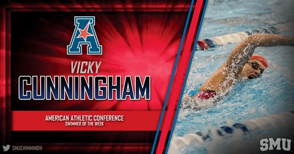 SMU's Vicky Cunningham Earns AAC Swimmer Of The Week