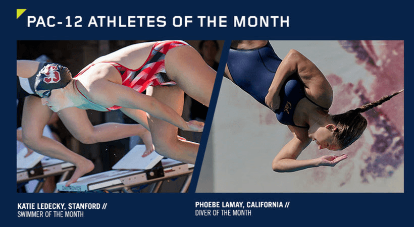 Katie Ledecky & Phoebe LaMay Earn Pac-12 Athletics Of The Month