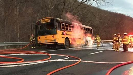 Monticello High School Swimmers Safe After Bus Fire Incident