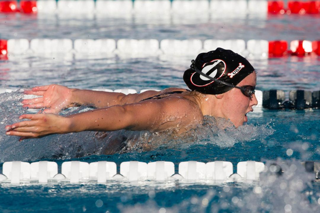 Hali Flickinger Swims Lifetime Best in 400 IM at Bulldog Grand Slam