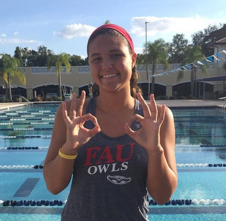 Florida Backstroker Kara Wilkins Commits to In-State FAU for 2017-18