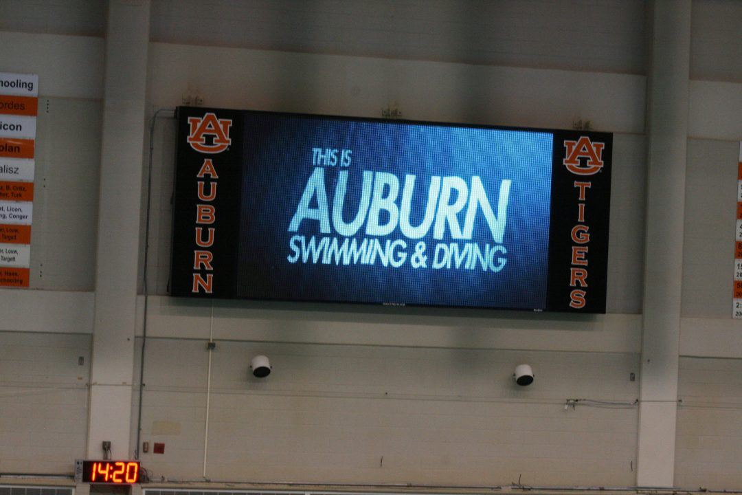 Tetzloff Wins Again with 51.7 100 Fly on Day 2 of Auburn Invite