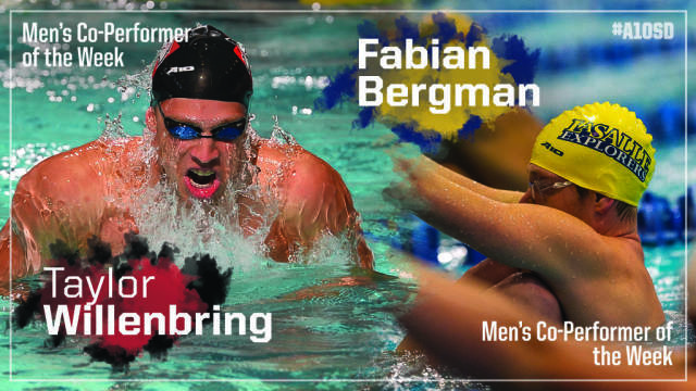 Willenbring & Bergman Named A10 Men's Co-Performers Of The Week