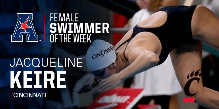 Cincinnati Men & Women Take Weekly Swimmer Of The Week Awards