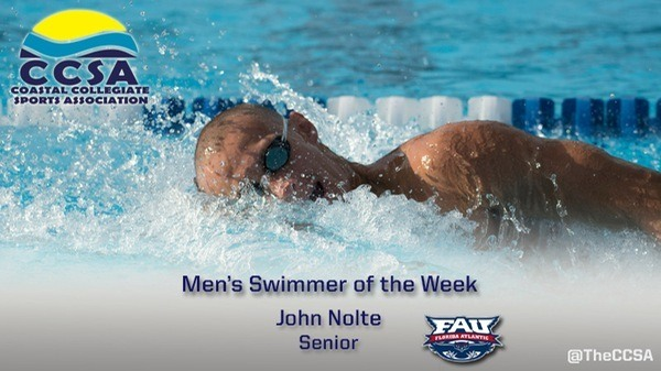FAU Men, Nolte & McIntire Take CCSA Swimmer & Diver Of The Week Honors