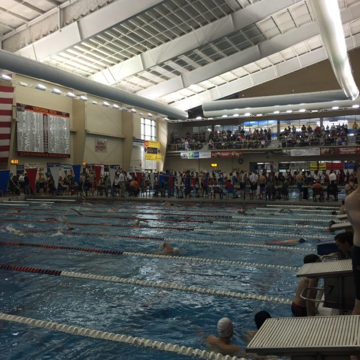 Virginia and Virginia Tech Split Annual Dual Meet