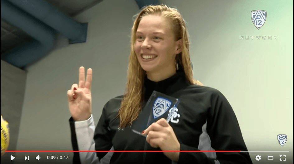 Louise Hansson Doesn't Remember Much of 100 Fly Win (VIDEO)