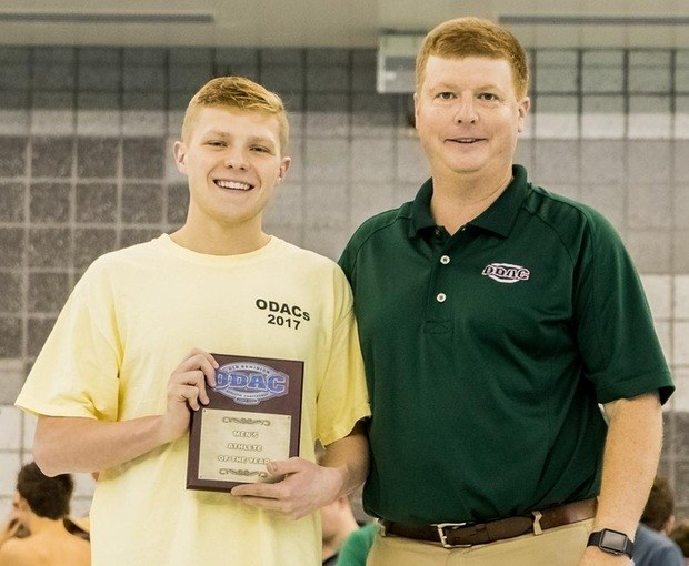Robert Redenz Named ODAC Male Swimmer Of The Year