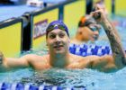 Dressel Upsets Schooling; Sets New NCAA Record in 43.58