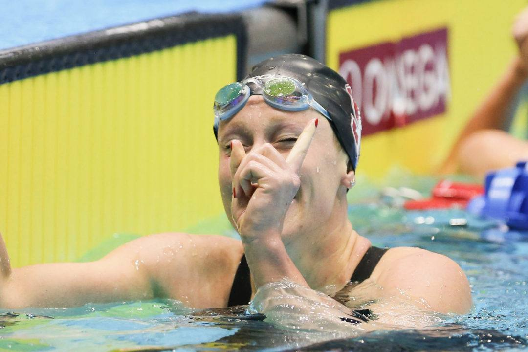 Ella Eastin Takes Over the 400 IM American Record from Ledecky