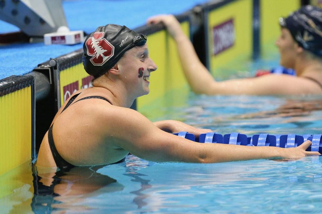 Katie Ledecky Sets NCAA Meet Record in 1650 Free, NCAA Record 1000