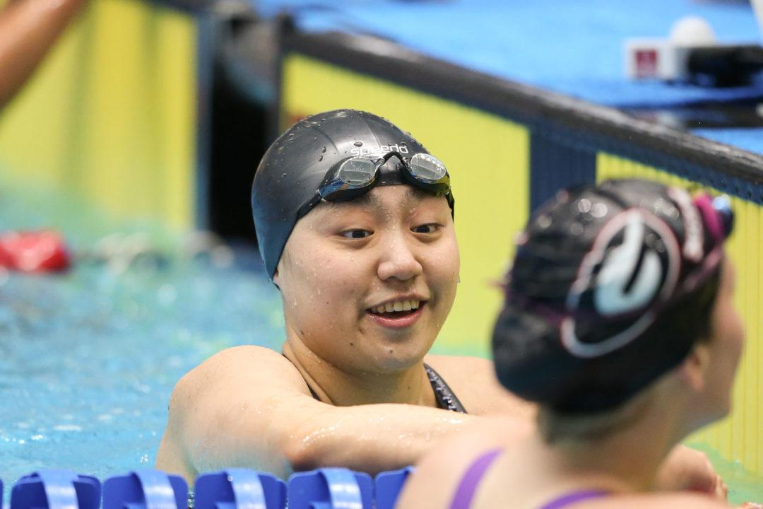 Liz Li Breaks Big Ten Meet Record, Goes #6 Time in History in 50 Free