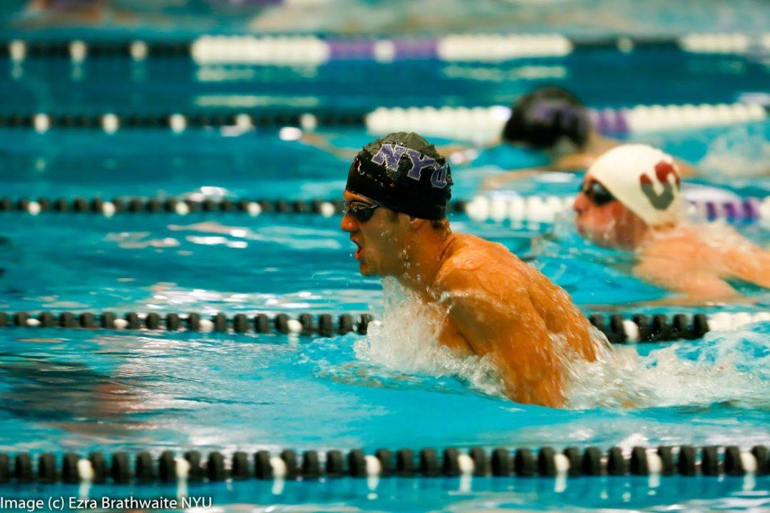 NYU, Johns Hopkins Split Tri Meet with TCNJ