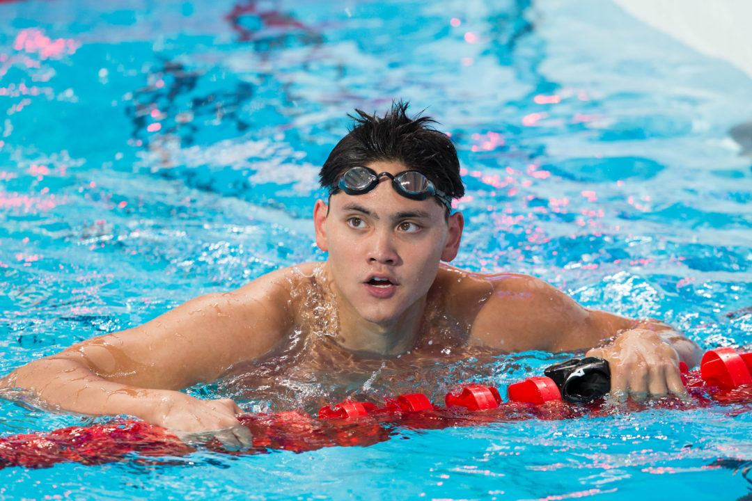 Schooling Penciled In For 200 Fly At This Week's Singapore Nationals