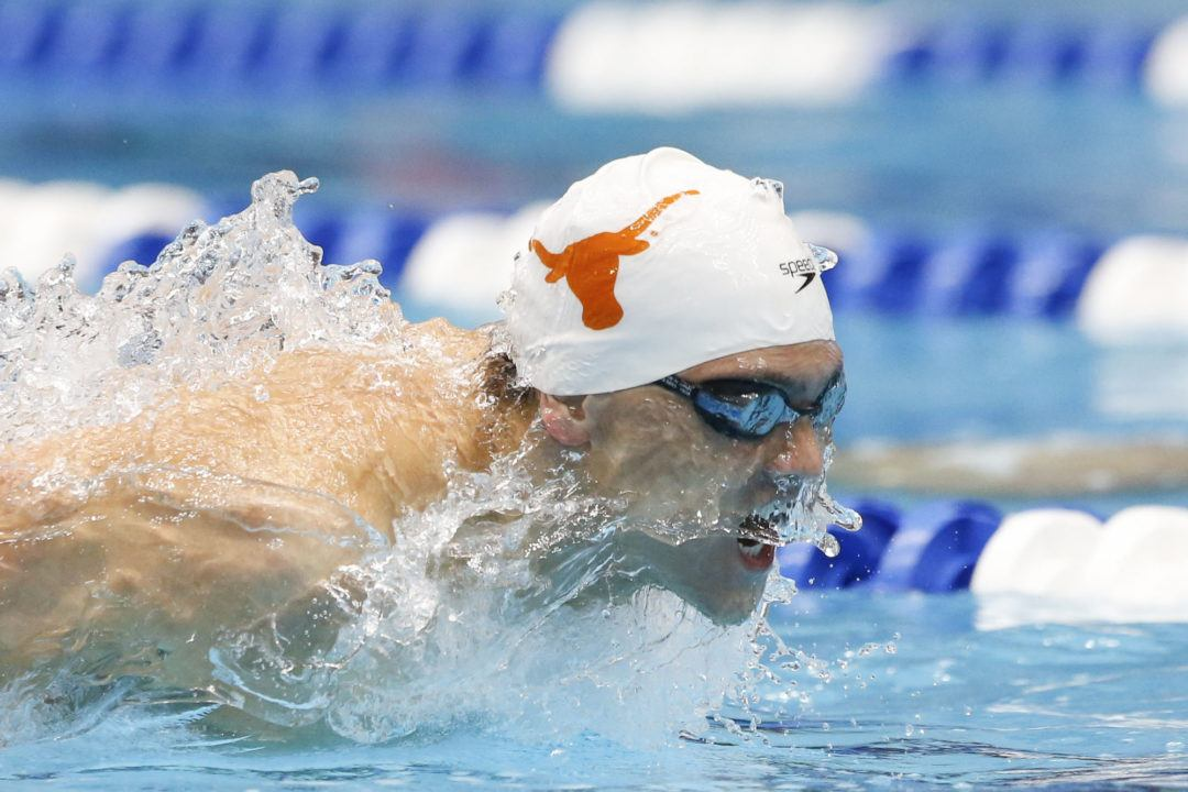 Schooling wins Battle vs. Conger with 44.7 100 Fly at Texas Invite