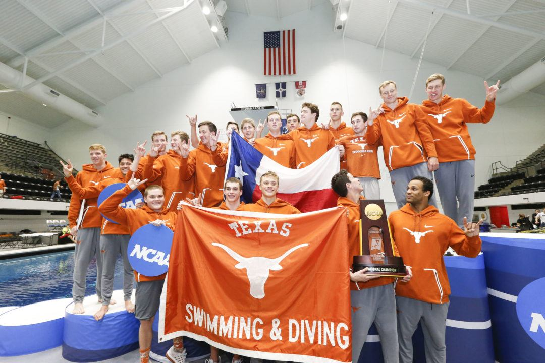 Ryan Harty's 1:41.5 200 Back Highlights Texas' Win Over TCU