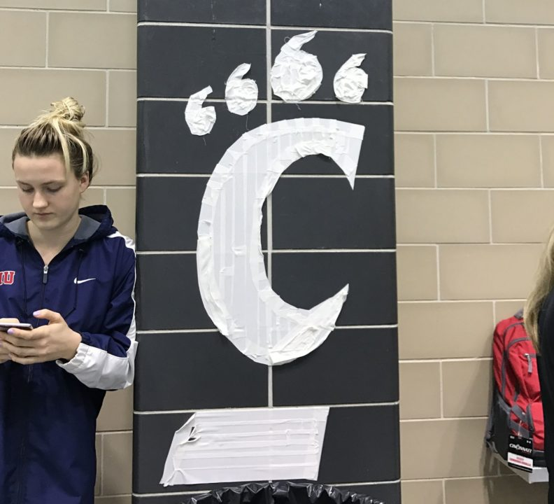 Chris Bready Breaks Own Pool Record as Cincinnati Swims Past Kenyon