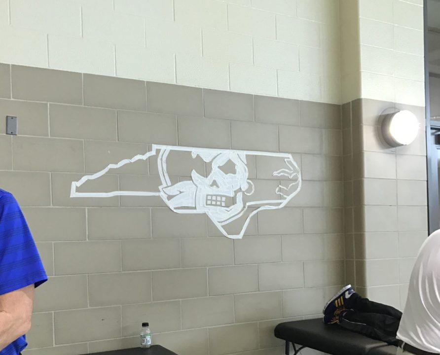Photo Vault: AAC Swimmers Turn Tape Art into Competition of Its Own
