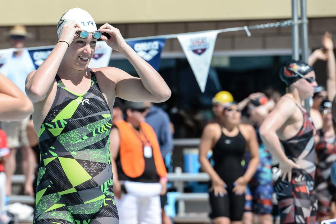 It's a Boy: Dana Vollmer, 26 Weeks Pregnant, Goes 27.59 in 50 LCM Free