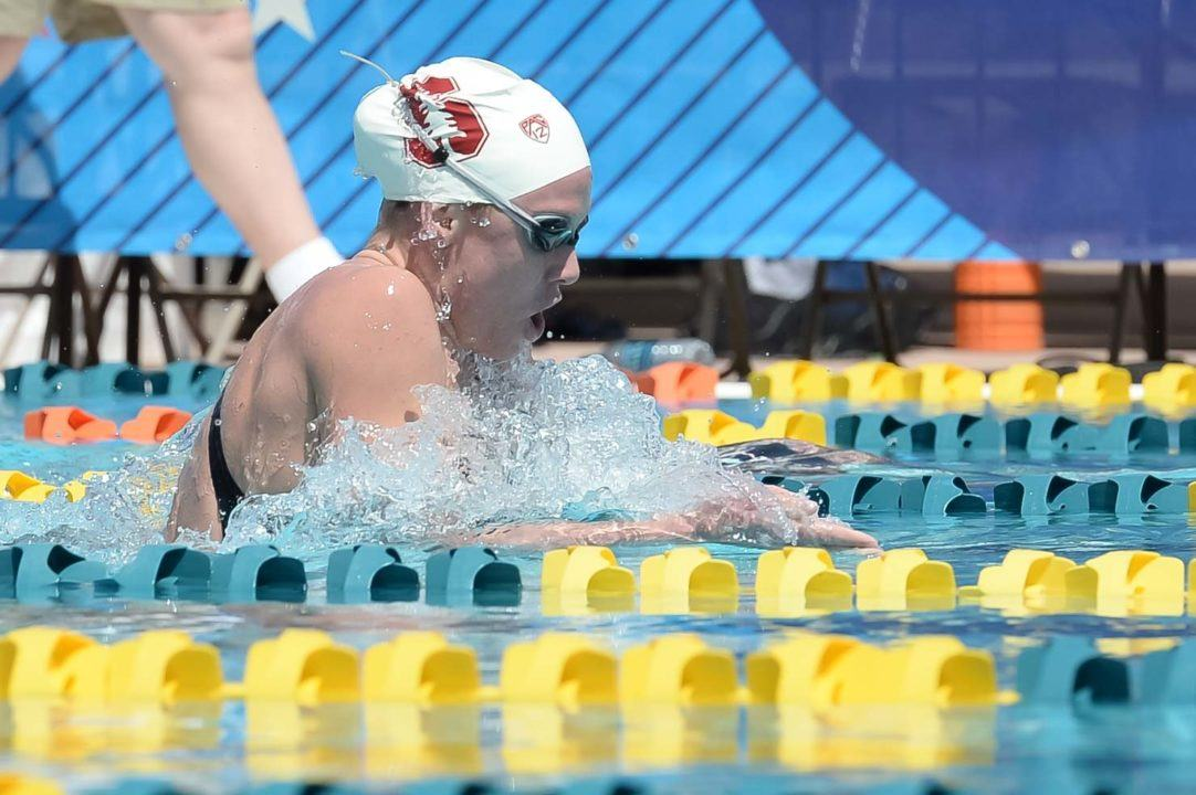 Ella Eastin, Seeded 1st in 200 IM and 200 Fly, Scratches Both in Mesa