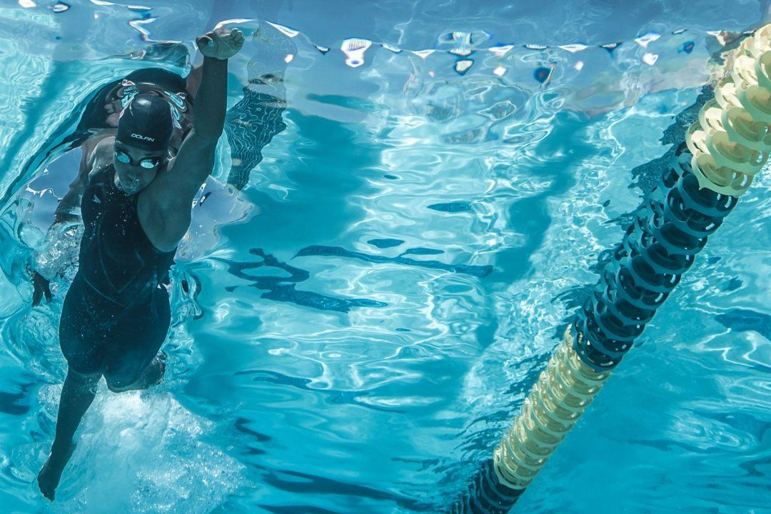 Underwater at the Arena Pro Swim Series in Mesa, Arizona
