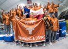 Texas Men Hang 2017 NCAA Champion Banner At Texas Swim Center