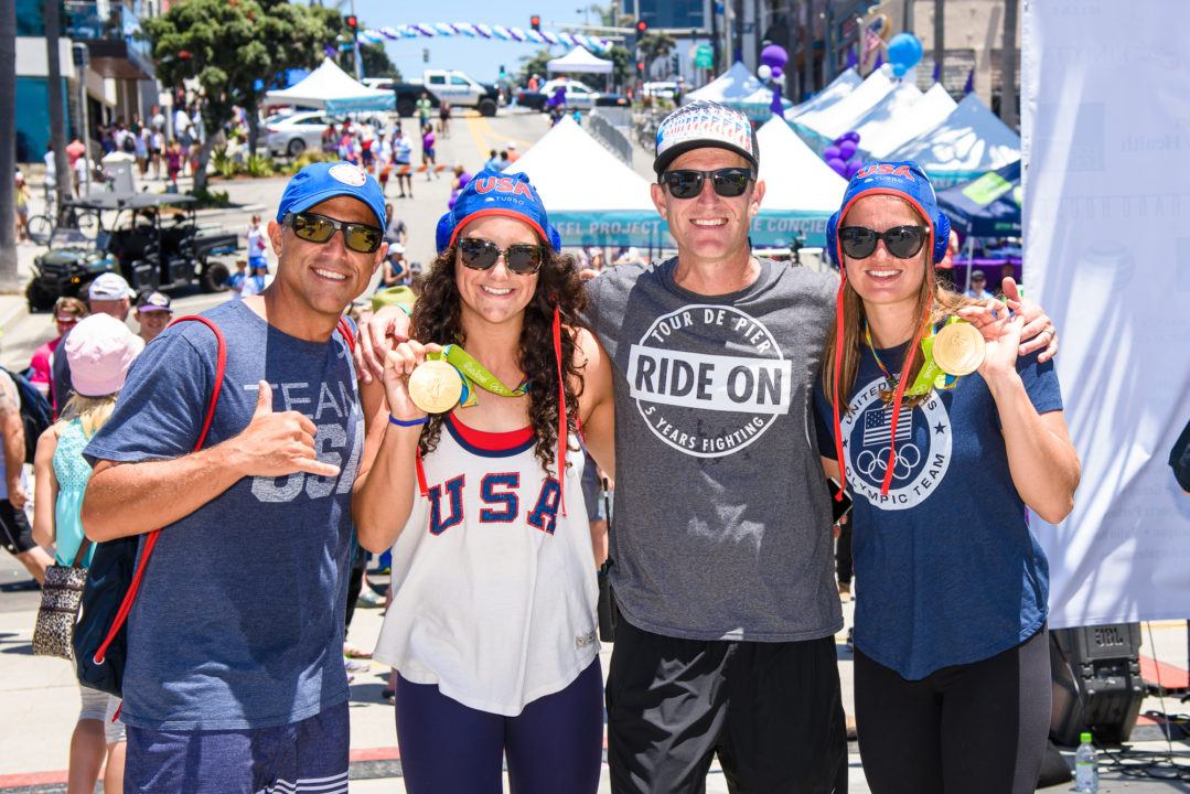 U.S. Water Polo Gold Medalists Participated In The 5th Tour de Pier