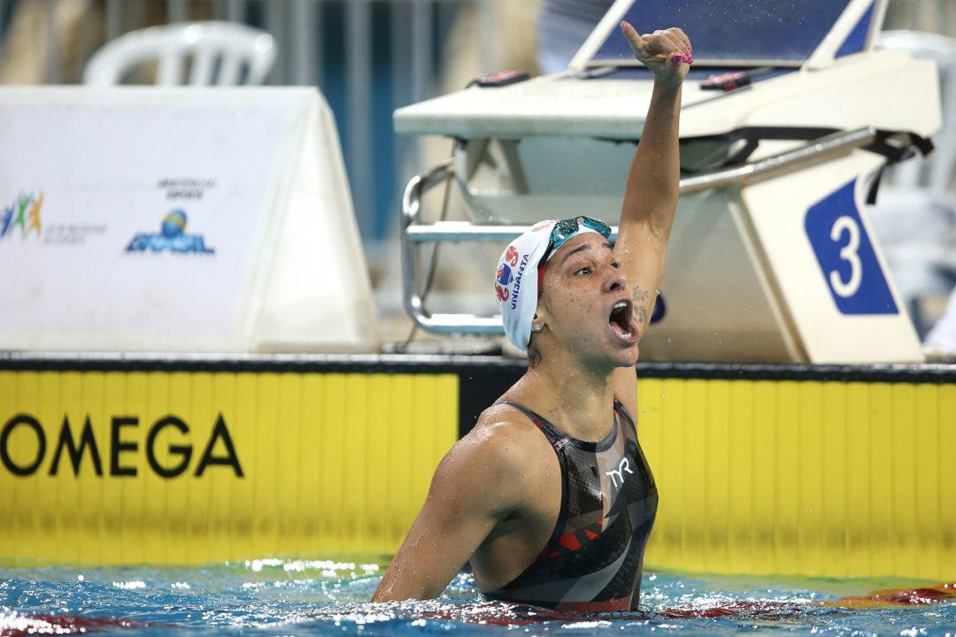 Maranhao Lowers Brazilian 400 Free Record On Day 1 of Maria Lenk