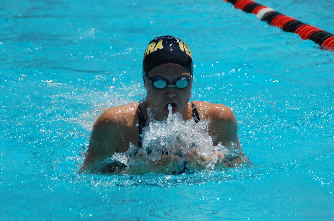 Cal Freshman Ali Harrison Sweeps Breaststrokes vs. Utah