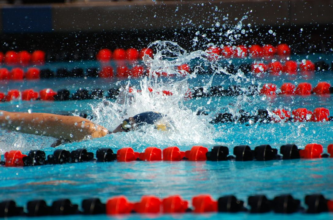 Fackenthal Pops Meet Record 22.4 50 Free in CIF State Prelims