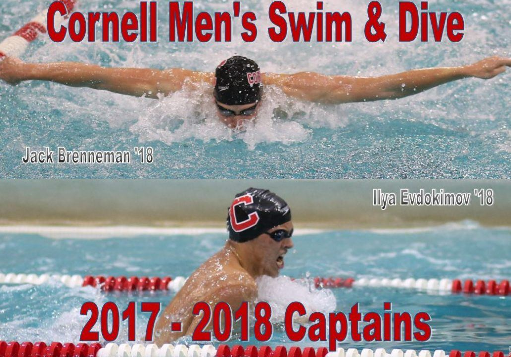 Cornell Men Announce Brenneman & Evdokimov As 2017-18 Captains