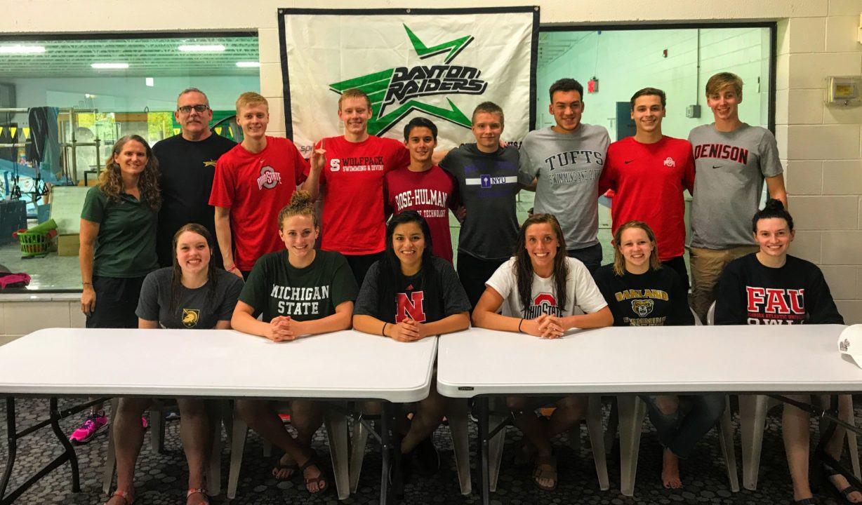 All 14 Dayton Raider Seniors Moving On College Level Swimming Programs