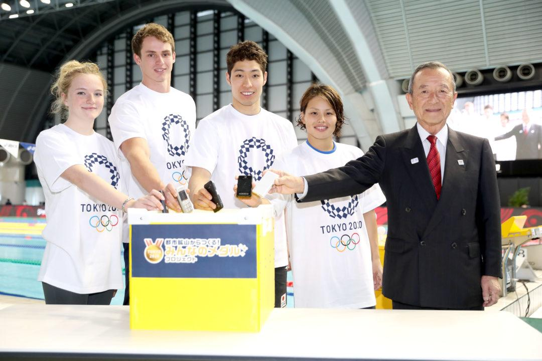 Japan Open 2017 Swimmers Show Support For Tokyo 2020 Medal Projection