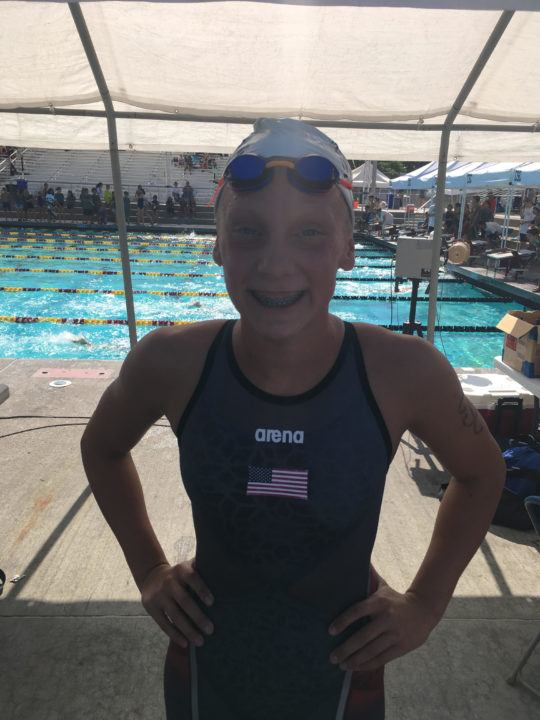 Claire Tuggle, After Just Turning 13, Pops 56.7 100m FR, 8:43 800m FR